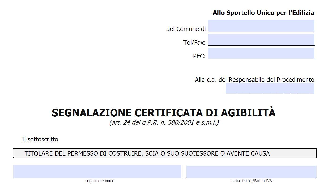 Addio certificato di agibilit benvenuta s c a - Agibilita immobile ...